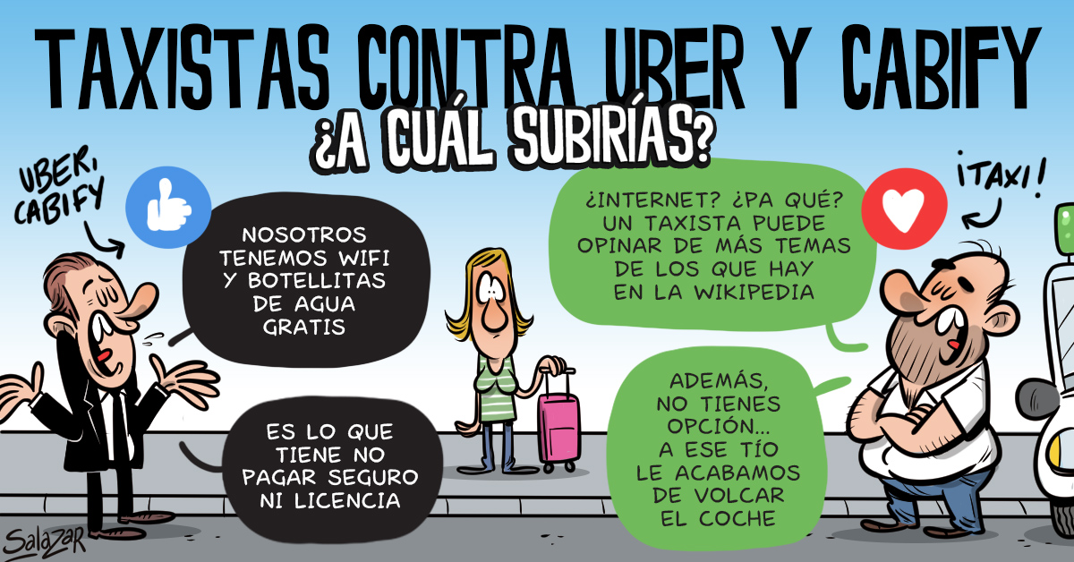 ¿Taxis o Uber? ¿A quién eliges?