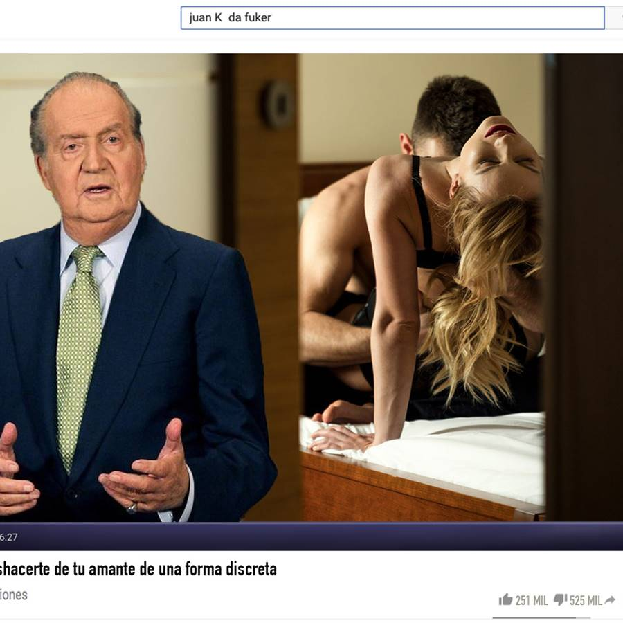 El rey Juan Carlos abre un consultorio sexual en You Tube