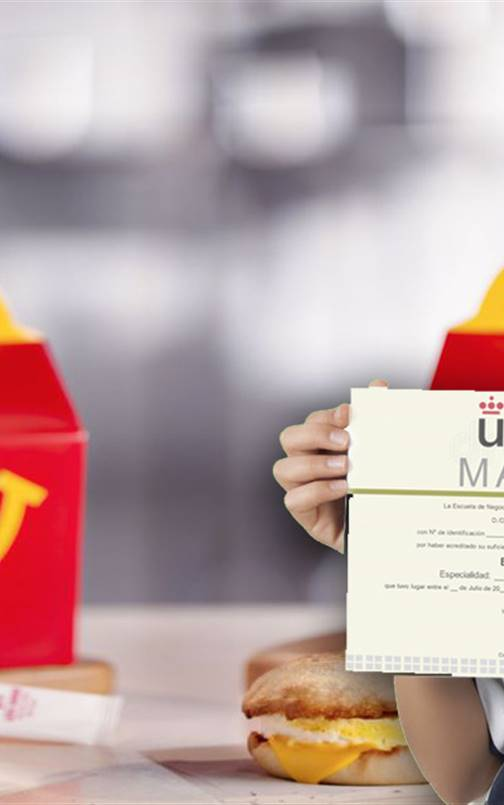McDonald's regalará másteres de la Universidad Rey Juan Carlos en sus Happy Meal